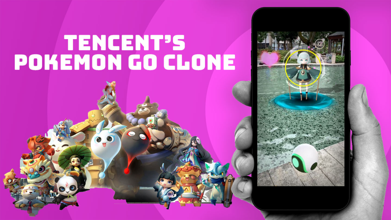 There's a Pokémon Go clone from Tencent that copies almost everything