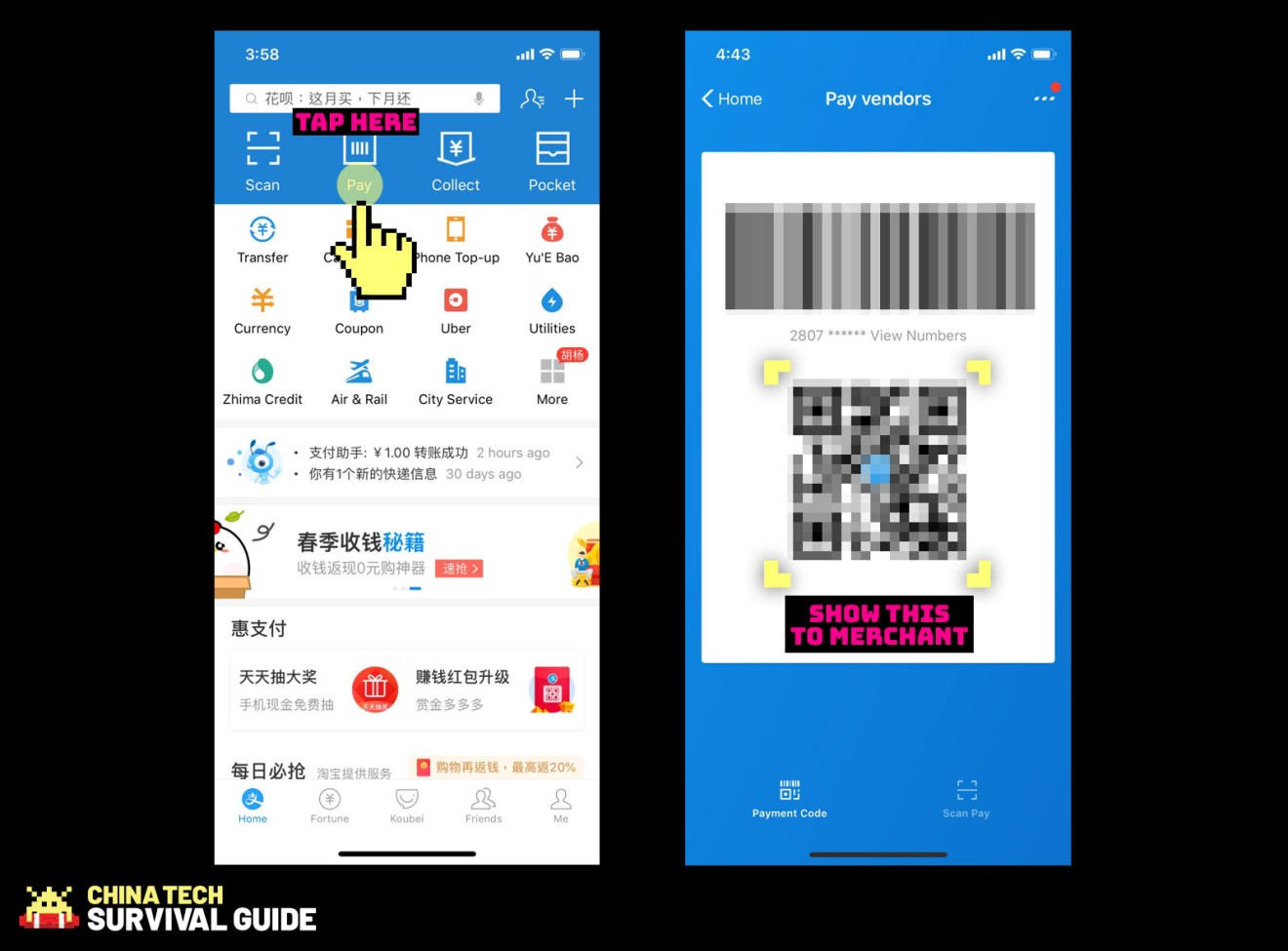 How to pay with your smartphone in China using Alipay | Abacus