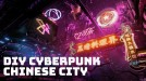This cyberpunk Chinese city was made by one person