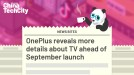OnePlus reveals more details about TV ahead of September launch