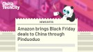 Amazon brings Black Friday deals to China through Pinduoduo