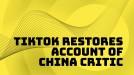 TikTok unblocks US teen who criticized China on Uyghurs