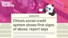 China's social credit system shows first signs of abuse, report says