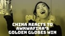 China's internet lights up with Awkwafina's historic Golden Globes win