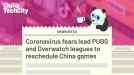 Coronavirus fears lead PUBG and Overwatch leagues to reschedule China games