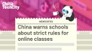 China warns schools about strict rules for online classes