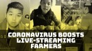 Live streaming in the age of the coronavirus aids farmers and makes sleeping man a star