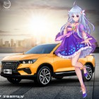 The virtual assistant in this SUV is a holographic anime girl