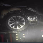It looks like another Tesla caught fire in China, this time in a repair shop
