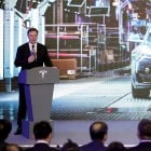 Elon Musk in Shanghai for first public deliveries of China-made Tesla Model 3 sedans