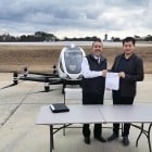 China's flying taxi completes first test flight in the US