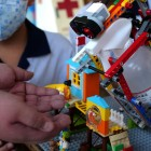 Students fight the coronavirus with Lego disinfectant dispenser