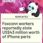 Foxconn workers reportedly stole US$43 million worth of iPhone parts to make new phones