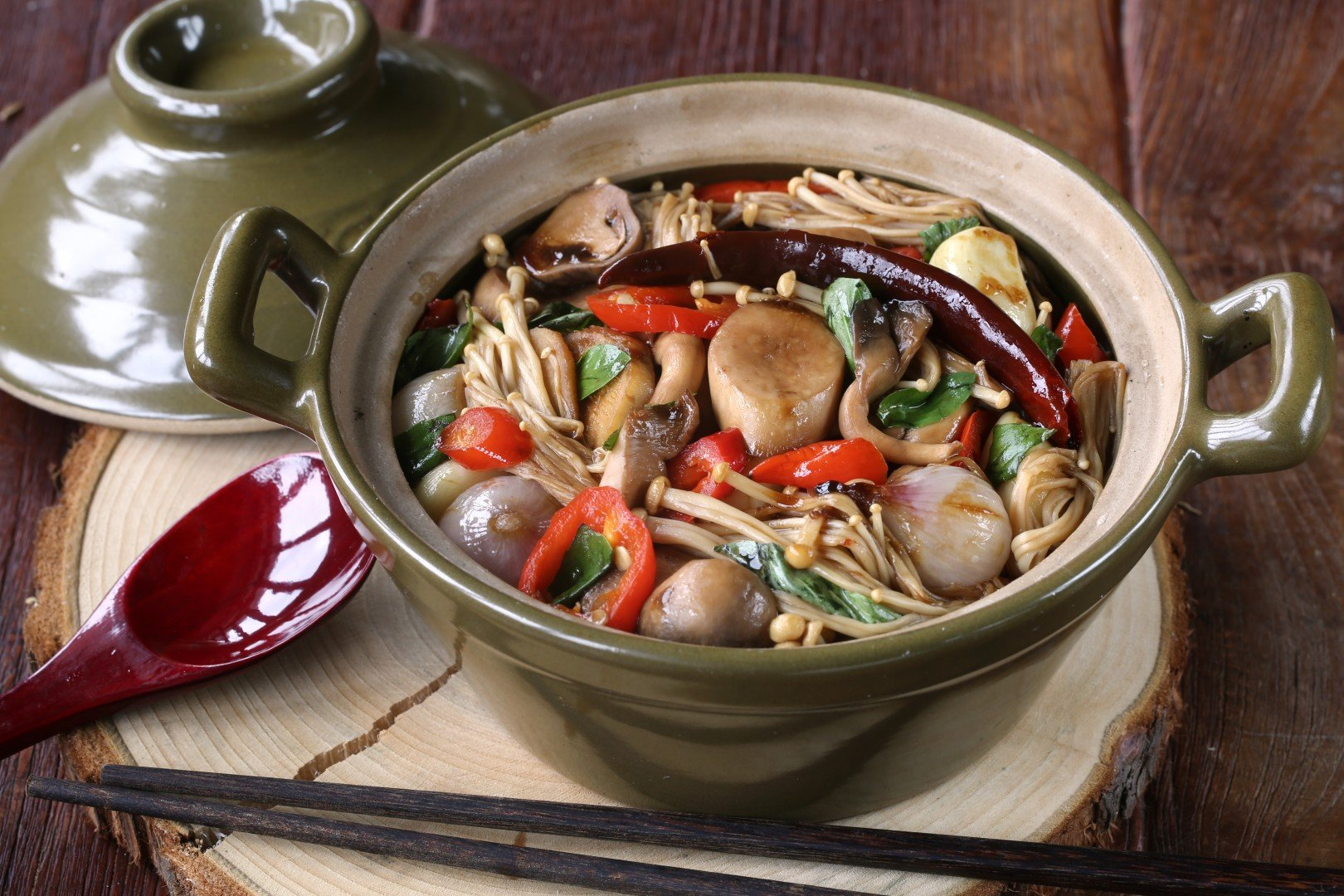 Easy Chinese Three Cup Mushrooms Recipe Scmp Cooking