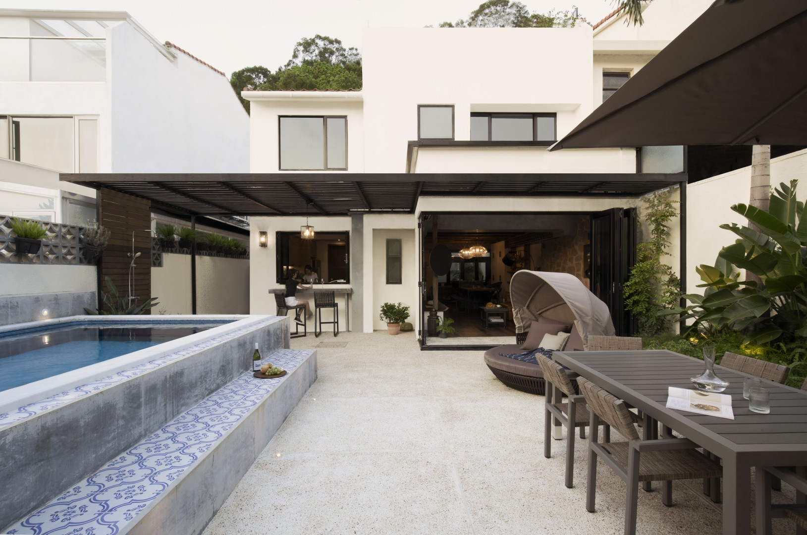 Inside a modern Mediterranean-inspired home that is the perfect