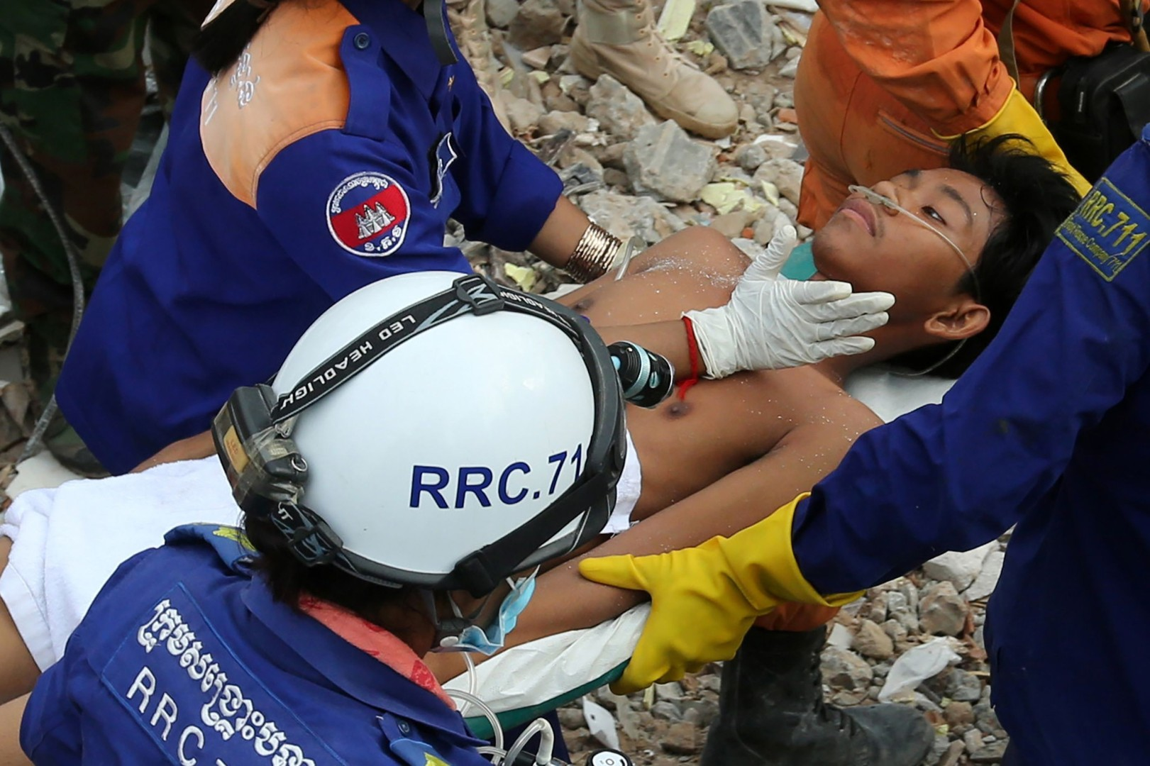 Cambodia building collapse: two workers found alive from