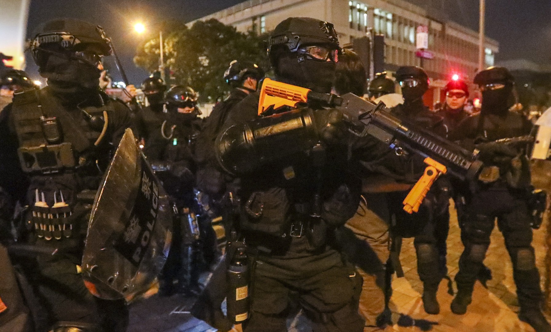 Hong Kong police confirm use of sponge grenades, rubber