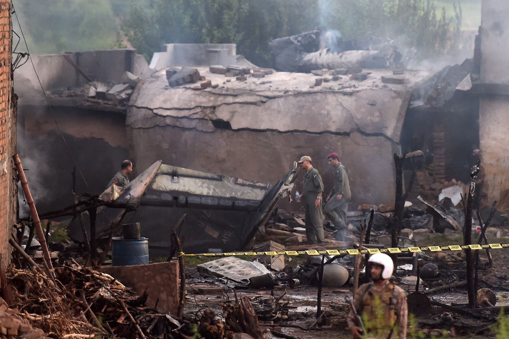 Five soldiers among 19 killed in Pakistani military plane crash in