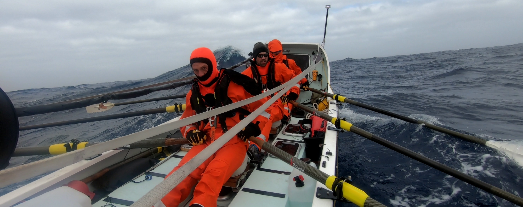 A team of six achieved three world firsts by rowing from South America to Antarctica across the Drake Passage. Photos: Handout
