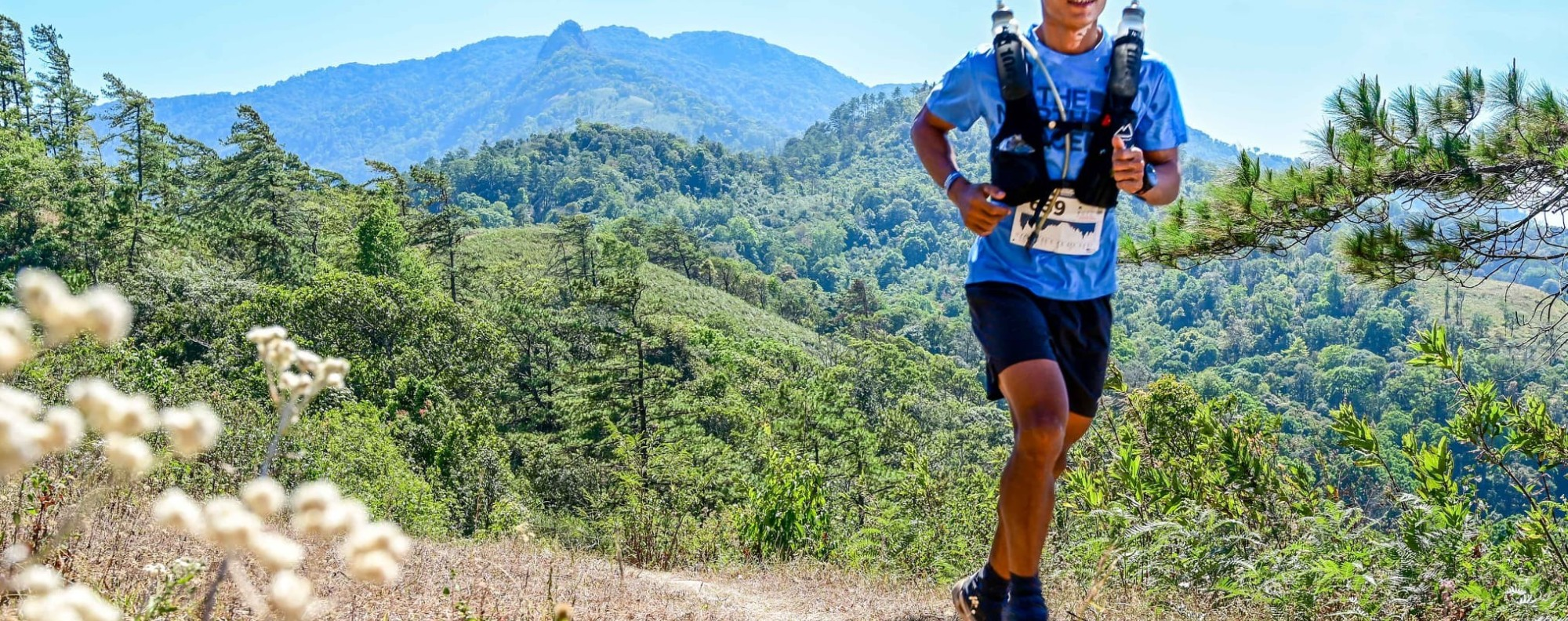 Jay Jantaraboon, one of Thailand's top trail runners, during the test event in February. Photo: Thailand by UTMB
