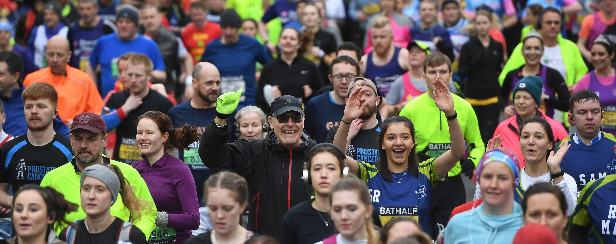 The Bath Half marathon run in Bath, Britain, 15 March 2020. Now is the time to ditch the can-do attitude and adopt social distancing. Photo: EPA-EFE/Andy Rain