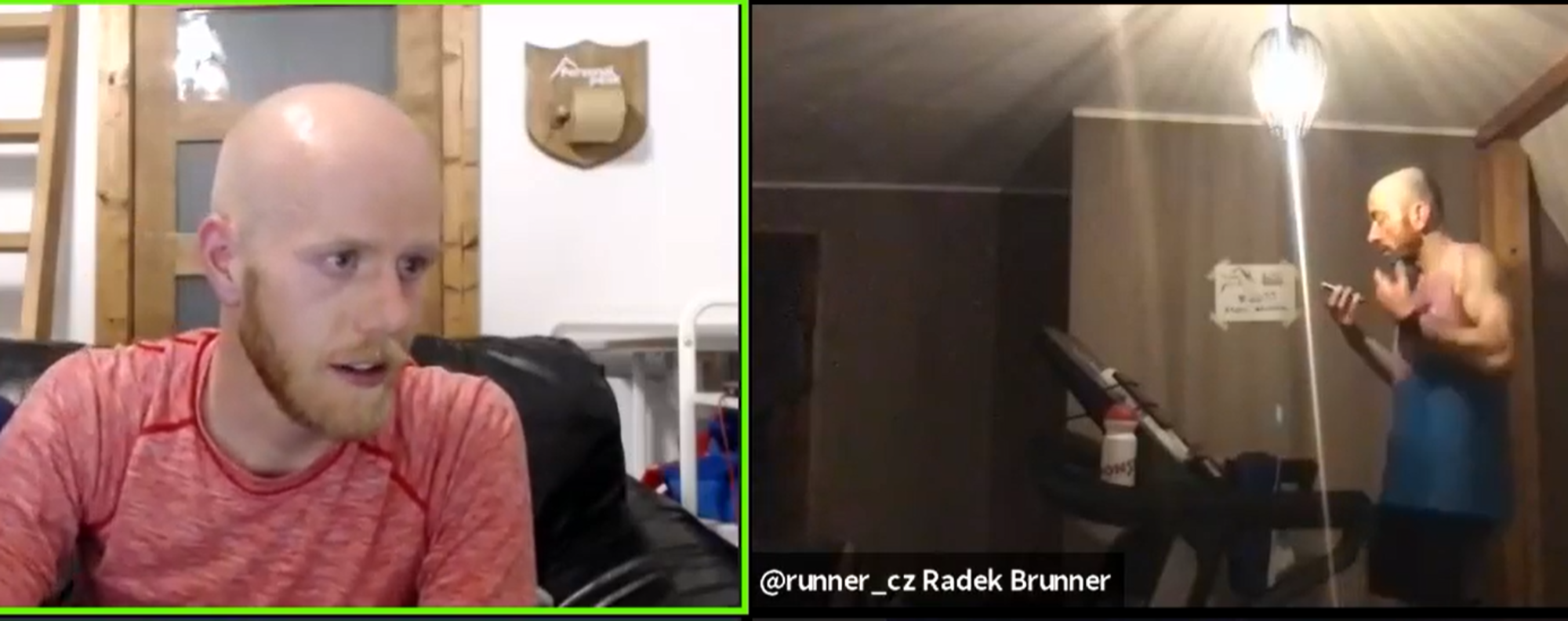 The moment Radek Brunner is told he is disqualified, live on Zoom, after missing the buzzer. Photo: Personal Peak