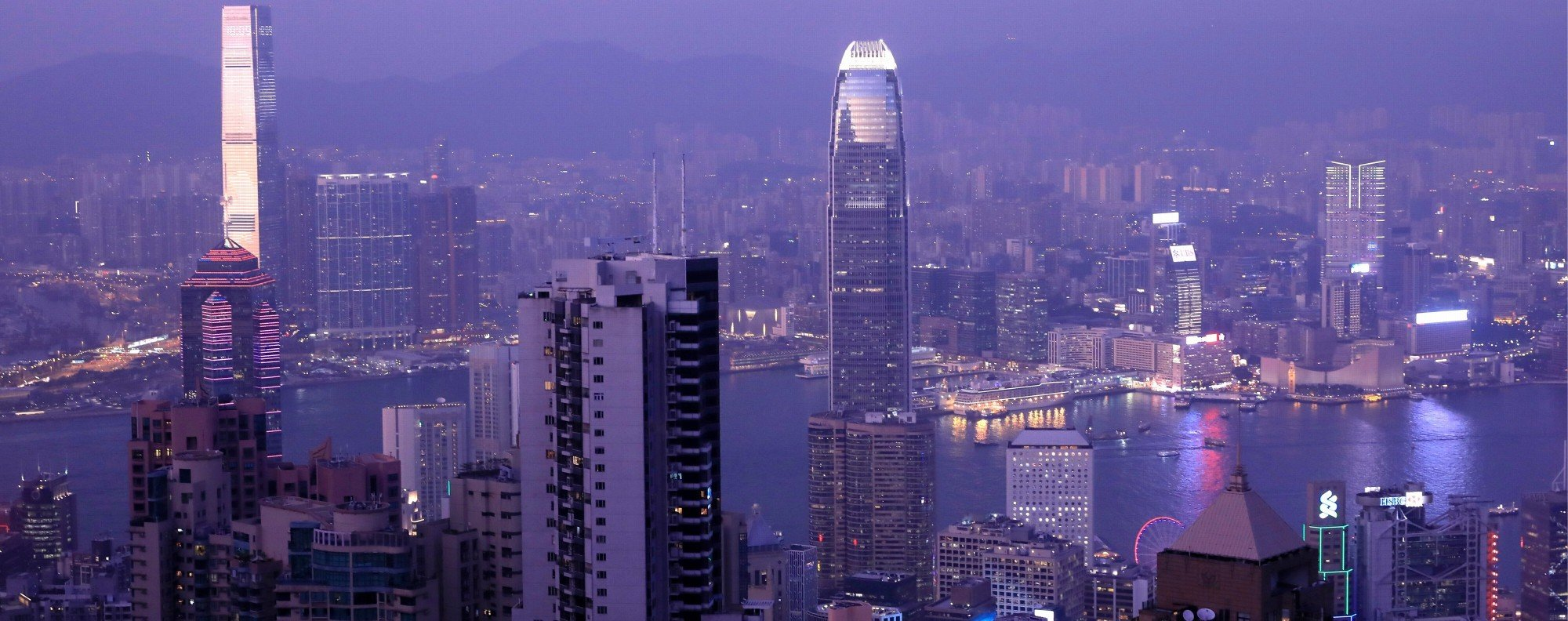 The view from The Peak is incredible, but will not help the monotony of running 30 loops of the same path. Photo: Reuters