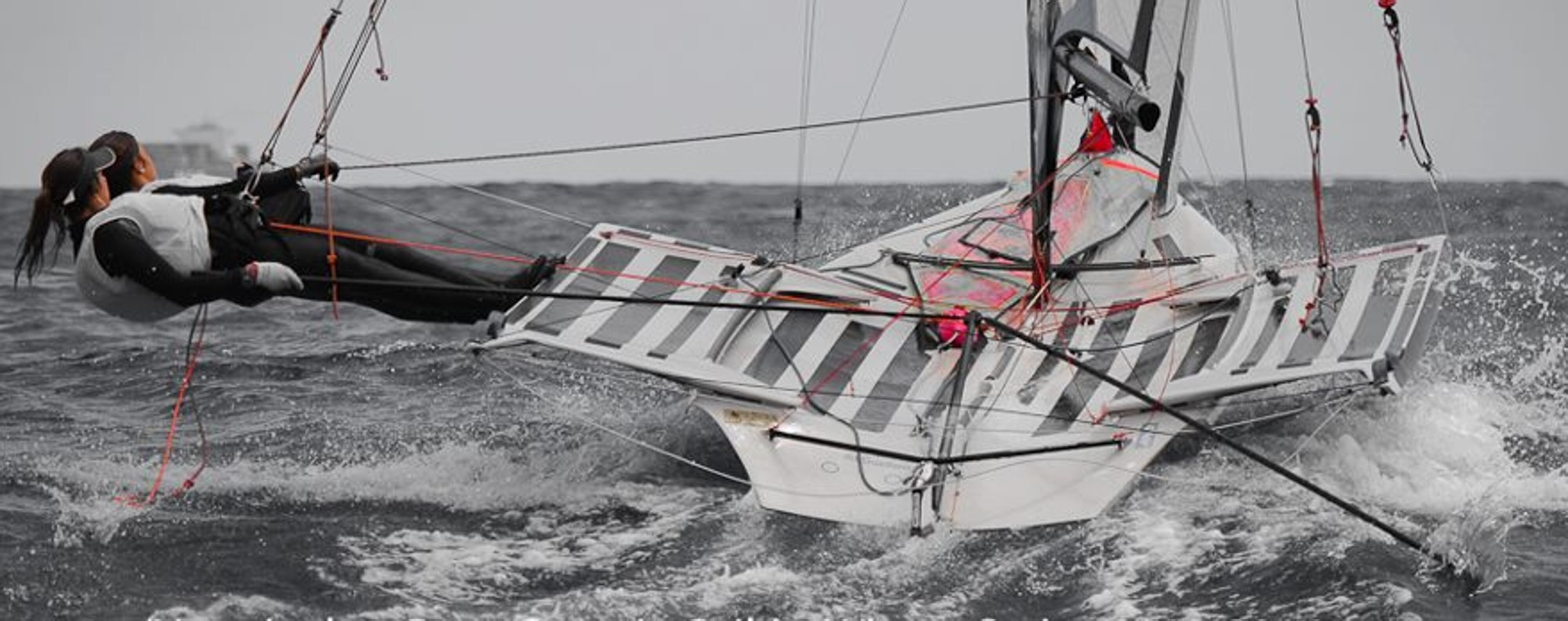 Maria Cantero's extensive experience on fast skiff's is great training to transition to a foiling boat. Photo: Alberto Sanchez