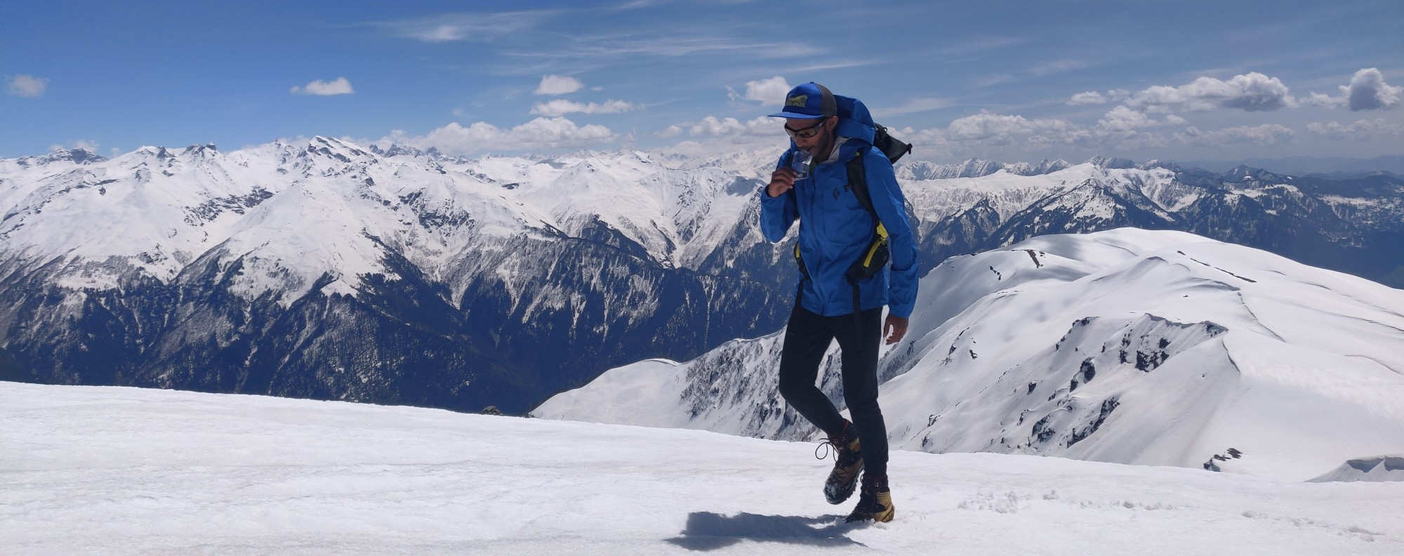 Indian trail runner and mountaineer Kieren D'Souza hiking above his town and dreaming about the Friendship Peak 'FKT'. Photo: Handout