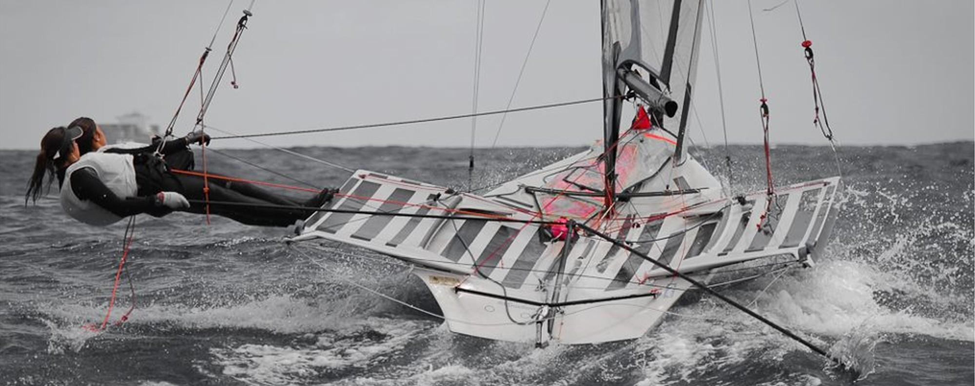 Maria Cantero a member of the Royal Hong Kong Yacht Club (RHKYC) Team Agiplast. Photo: Alberto Sanchez