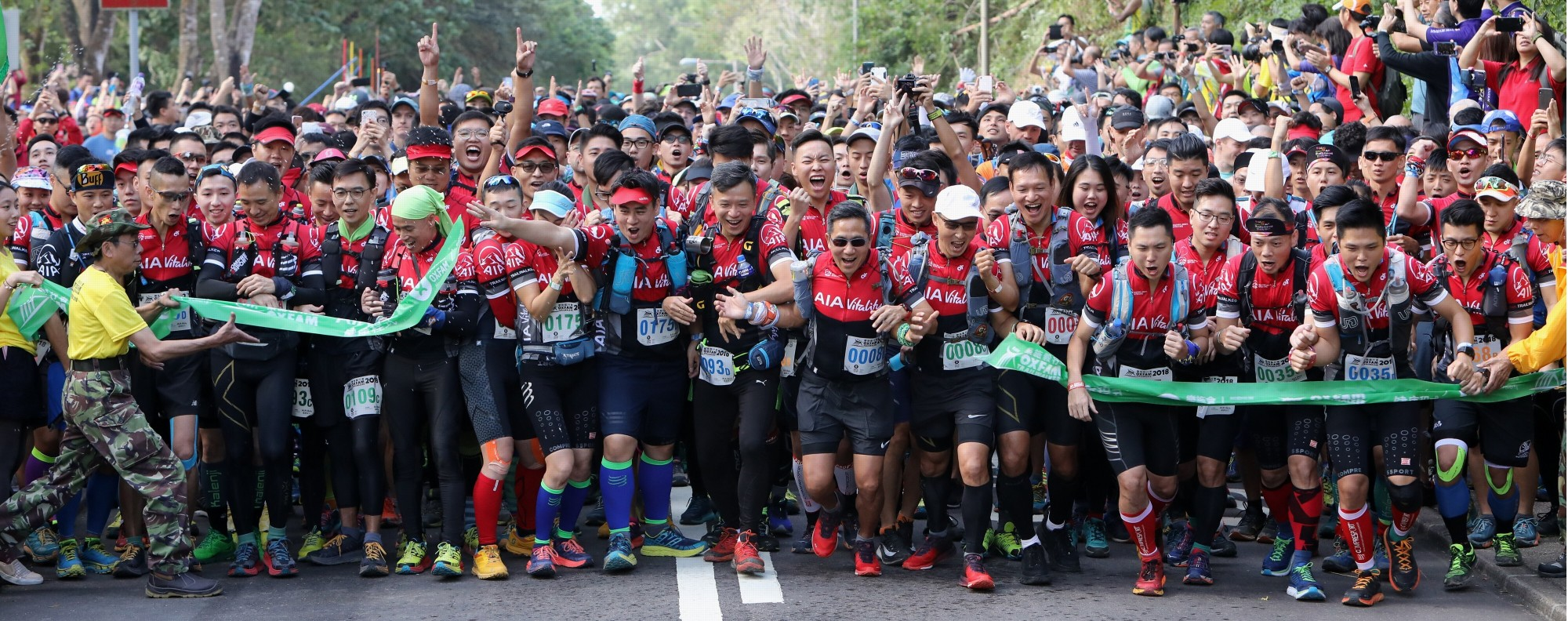 The start line of the 2018 Oxfam Trailwalker, one of more than 200 trail events each year. Photo: Dickson Lee