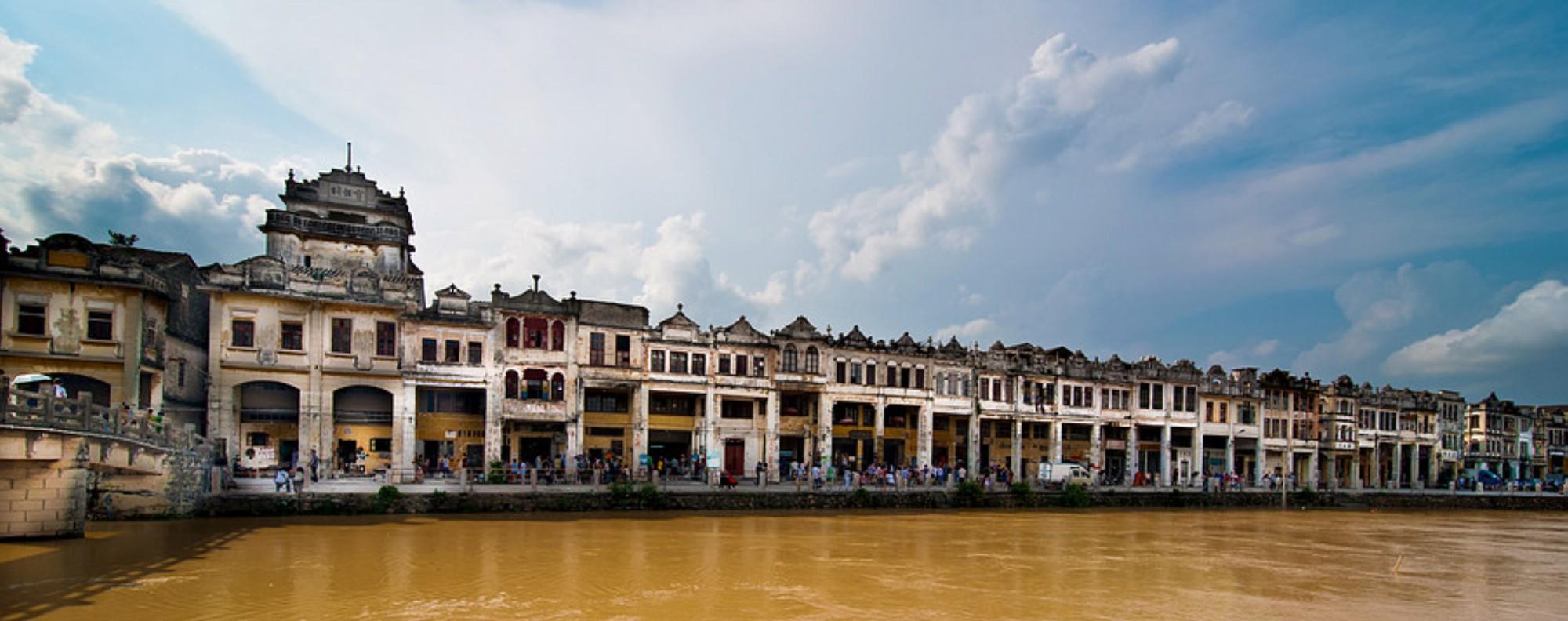 Kaiping Diaolou in Kaiping county, Jiangmen city. Photo: Corbis