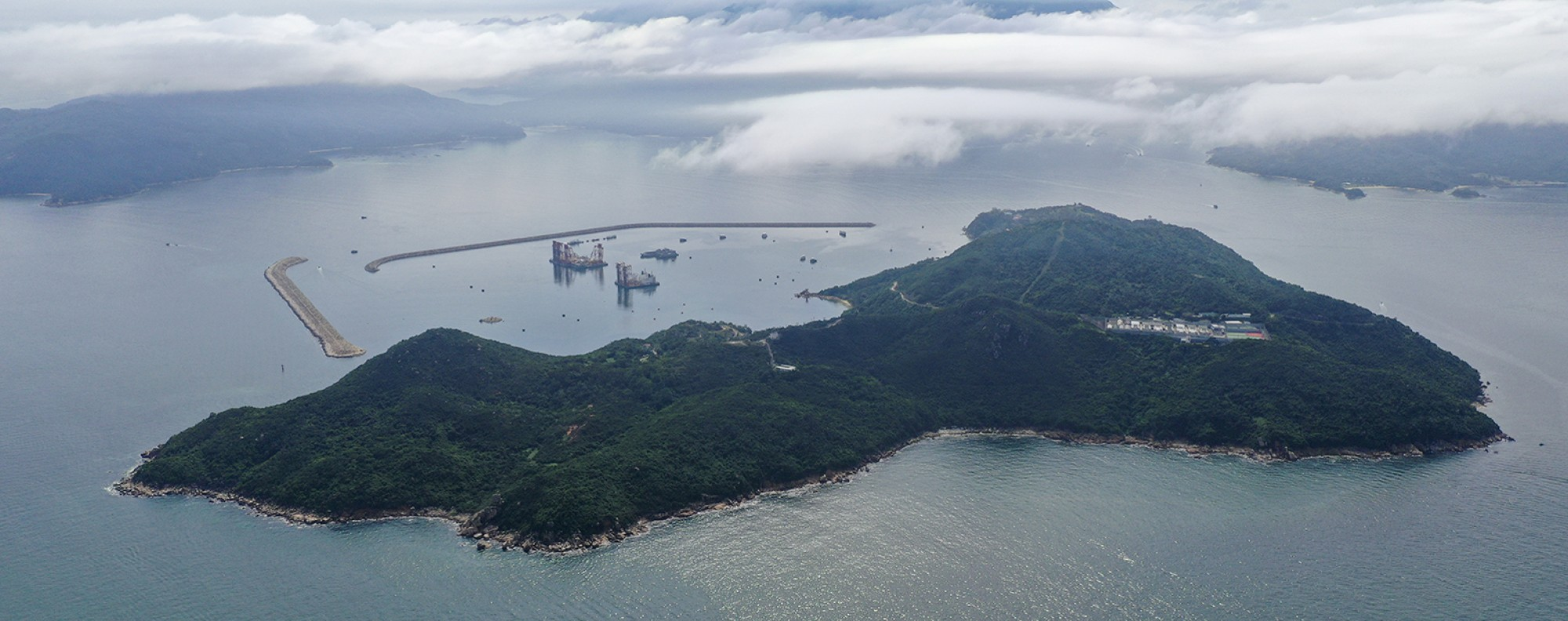 The second phase of the plan involves reclamation around Hei Ling Chau. Photo: Martin Chan