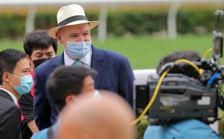 David Hayes after training a winner at Sha Tin on Sunday. Photos: Kenneth Chan
