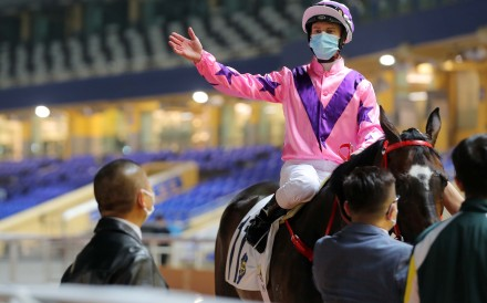 Zac Purton after a winner at Happy Valley on Wednesday night. Photos: Kenneth Chan.