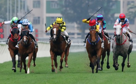 Amazing Star wins the Group Two Sprint Cup at Sha Tin on Monday. Photos: Kenneth Chan