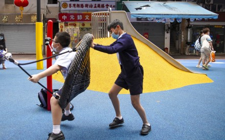 Children play in Yi Pei Square Playground in Tsuen Wan. Photo: Winson Wong