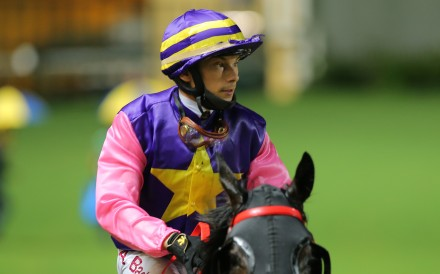 Alexis Badel after a winner at Happy Valley on Wednesday night. Photo: Kenneth Chan