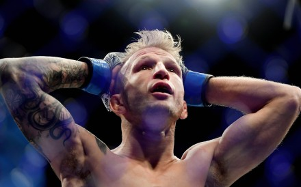 T.J. Dillashaw has relinquished his UFC bantamweight drown after a positive drug test. Photo: AFP