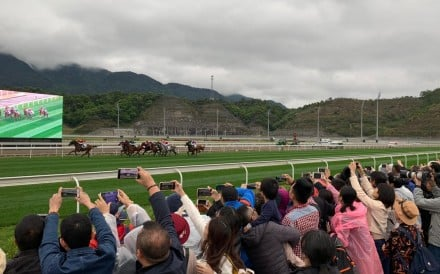 Fans clamour to get a piece of the action at Conghua Racecourse. Photo: SCMP