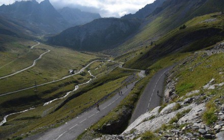 The famous Galibier climb on the Haute Route in the alps, dubbed the hardest amatuer cycling race in the world. Photo: Haute Route