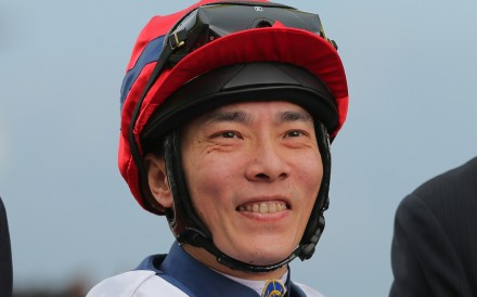 Eddy Lai in the winner's circle after riding a winner this season. Photos: Kenneth Chan