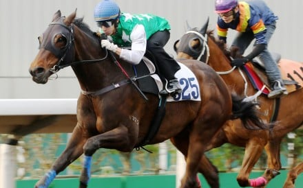 Pakistan Star motors away from his rivals in a barrier trial at Sha Tin last month. Photos: Kenneth Chan