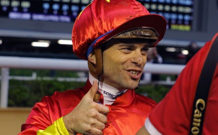 Umberto Rispoli is delighted with the win on Starlight at Happy Valley earlier this season. Photos: Kenneth Chan