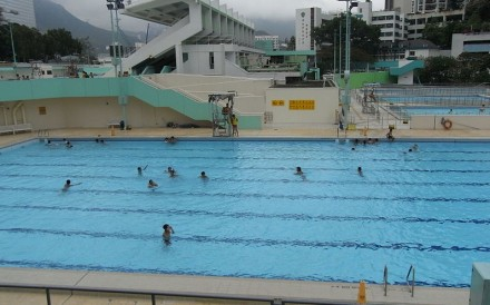 At least five public pools did not have all of their facilities open on Monday, including Pao Yue Kong Swimming Pool in Southern district. Photo: Wikipedia