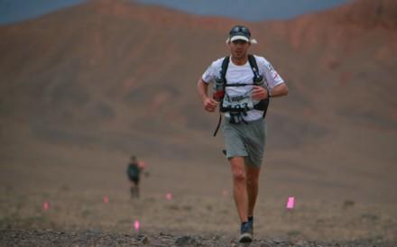 Dan Parr on his way to winning the gruelling RacingThePlanet Gobi desert race in April 2010. Photos: Handout