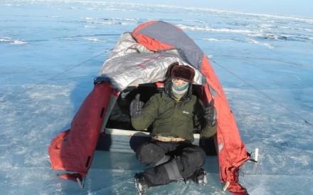 Anson Lui on Lake Baikal in South Siberia. Photo: Facebook