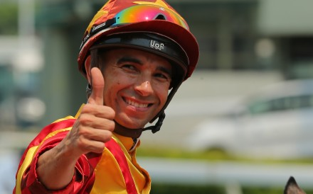 Jockey Joao Moreira after riding a winner at Sha Tin this season. Photos: Kenneth Chan