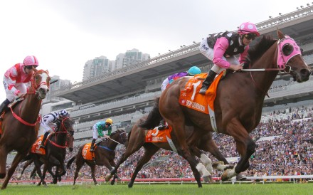 Beauty Generation coasts to victory in the Champions Mile. Photos: Kenneth Chan