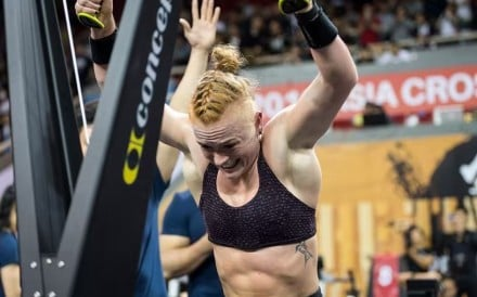 Eik Gylfadottir, of Iceland, was one of the athletes putting heat on Kristin Holte on day two of the Asia CrossFit Championship. Photo: Asia CrossFit Championship